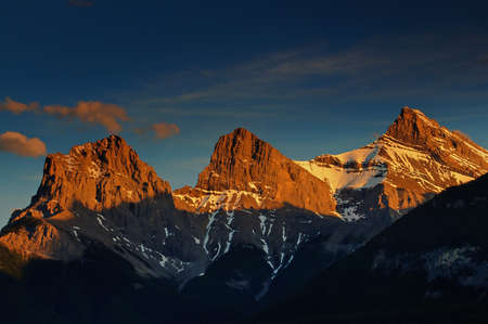 canmore: Sunset on Three Sisters Mountains