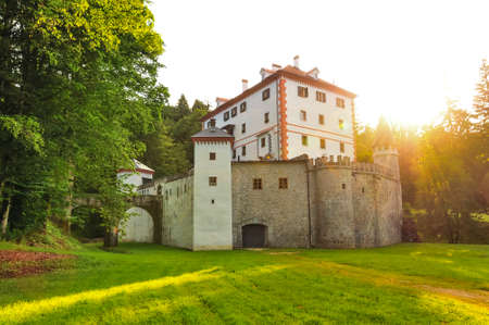 Sneznik Castle, (Grad Snežnik, Schloß Schneeberg); a picturesque 13th-century castle located in Loška Dolina, Slovenia Editorial