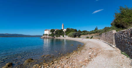 Dominican monastery in Bol, built in 15th century, now partially converted to a hotel with pebbled beaches