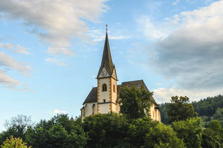 primus: Saints Primus and Felician Church in Maria Worth, Carinthia, Austria on the Worthersee Stock Photo