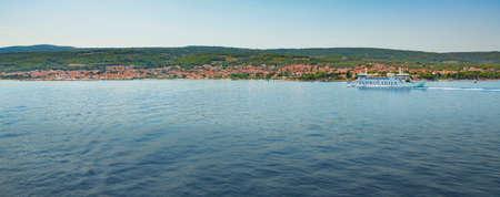Split, Croatia - July 24 2016: Jadrolinija ferry Biokovo on regular line Splt - Brac entering Supetar harbor in high tourist season. Editorial