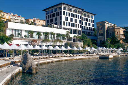 Waterfront with luxury beach and residences in Opatija, Croatia