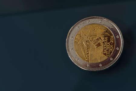 Commemorative 2 EUR coin celebrating the 600th anniversary of coronation of Barbara Celjska, issued by Slovenia