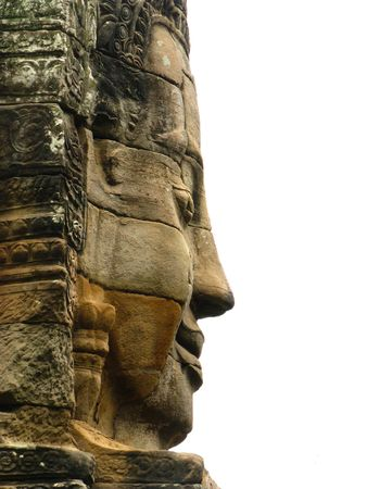 Stone face at bayon temple - angkor wat - cambodia Stock Photo