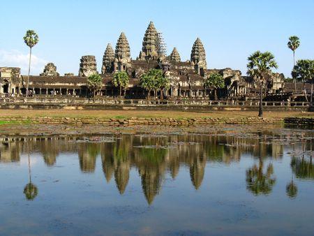 angkor wat: Angkor wat - Cambodia Stock Photo