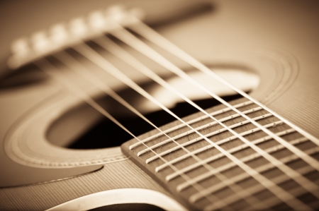 vintage music background: guitar music