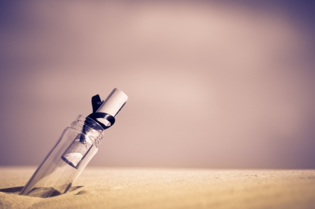 a message in a bottle - concept Stock Photo - 17959683