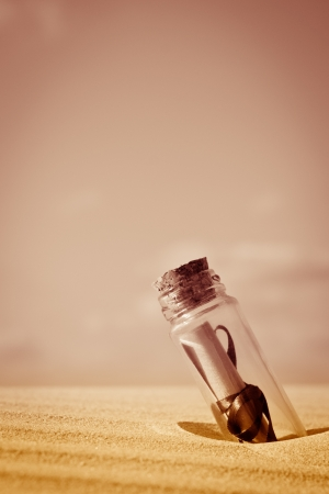 a message in a bottle - concept Stock Photo - 17959688