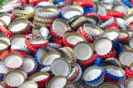 Bottle caps background photo