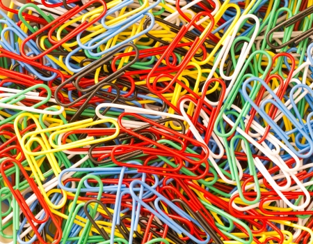 colorful paper clip collection background