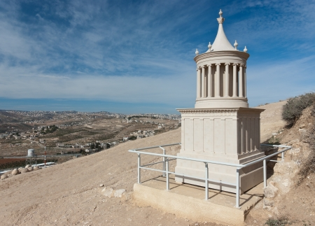 judean: a reconstruction of the tomb of Herod the great in Herodion, Judean desert, Israel