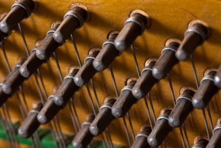 classical mechanics: Piano Keys  Stock Photo