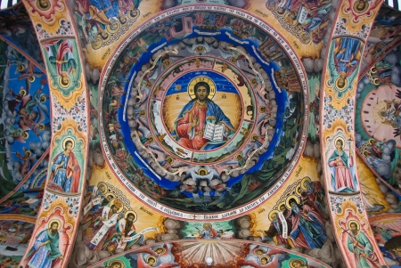 Christiat murals at the Rila Monastery - Bulgaria