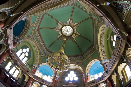 sephardi: The interior of the Synagogue in Sofia, Bulgaria  it is the biggest Synagogue in the Balkans Editorial