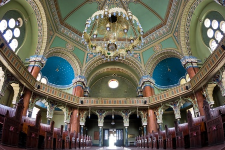 sephardi: The interior of the Synagogue in Sofia, Bulgaria  it is the biggest Synagogue in the Balkans