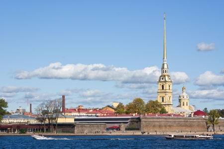 Peter and Paul fortress and Cathedral at St Petersburg, Russia photo