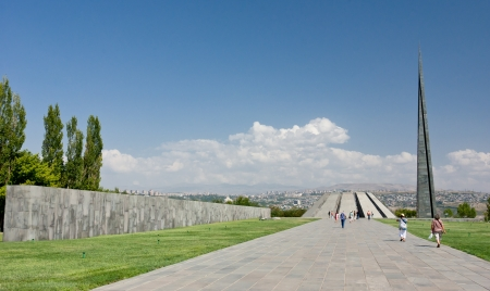 YEREVAN, ARMENIA - SEPTEMBER 5  The Armenia Genocide Memorial On September 5, 2011 in Yerevan, Armenia  The largely disputed Armenian genocide took place in 1915 by the Turks killing an estimated million and a half Armenians Stock Photo - 18114224