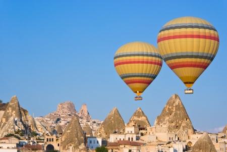 buoyant: hot air balloons at Cappadocia - Turkey