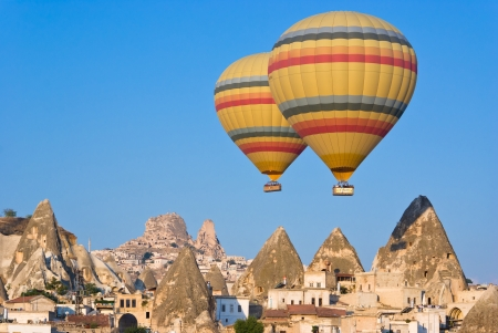 hot air balloons at Cappadocia - Turkey