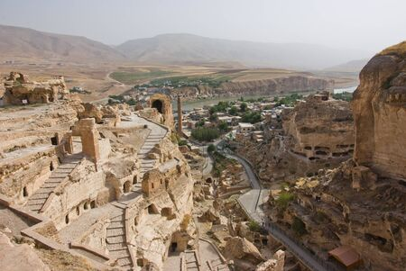 the ancient town of Hasankeyf - Turkey  Stock Photo