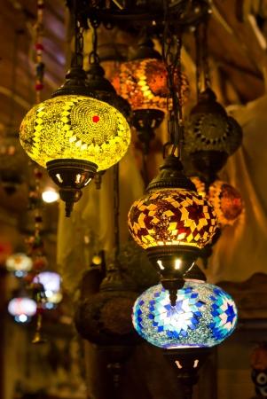 decorative turkish lanterns photo