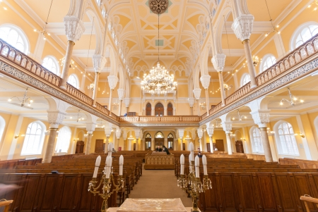 talmud: ST  PETERSBURG, RUSSIA - SEPTEMBER 14  The Choral Synagogue interior on September 14, 2012 in St  Petersburg, Russia  Completed in 1893, The Choral synagogue is the main synagogue in St  Petersburg