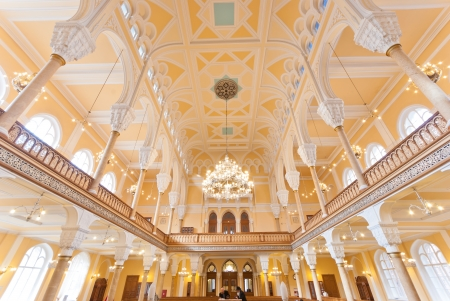 ST  PETERSBURG, RUSSIA - SEPTEMBER 14  The Choral Synagogue interior on September 14, 2012 in St  Petersburg, Russia  Completed in 1893, The Choral synagogue is the main synagogue in St  Petersburg  Stock Photo - 18170667