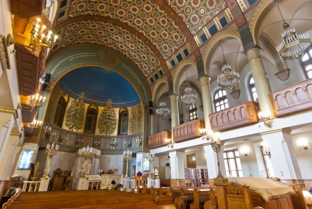 choral: MOSCOW - SEPTEMBER 21  The Choral Synagogue interior on September 22, 2012  Completed in 1906, The Choral synagogue is the main synagogue in Russia and the former USSR