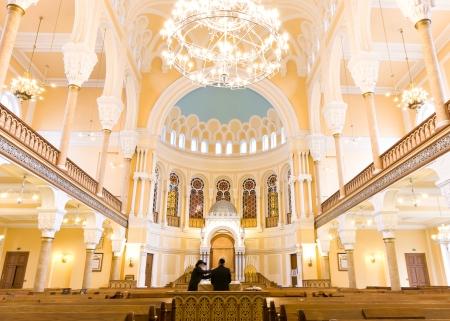 chóralne: ST PETERSBURG, Rosja - 14 września Choral Synagogue interior 14 września 2012 r. w Sankt Petersburgu, Rosja Zakończony w 1893 roku, synagoga chóralna jest główna synagoga w Petersburgu