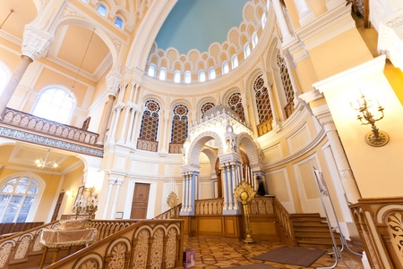 ST  PETERSBURG, RUSSIA - SEPTEMBER 14  The Choral Synagogue interior on September 14, 2012 in St  Petersburg, Russia  Completed in 1893, The Choral synagogue is the main synagogue in St  Petersburg  Stock Photo - 18170677