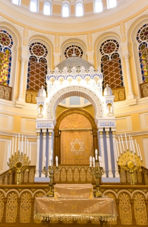 ST  PETERSBURG, RUSSIA - SEPTEMBER 14  The Choral Synagogue interior on September 14, 2012 in St  Petersburg, Russia  Completed in 1893, The Choral synagogue is the main synagogue in St  Petersburg