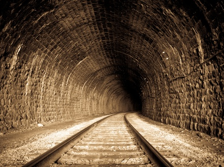 the end: a railway tunnel in Siberia, Russia