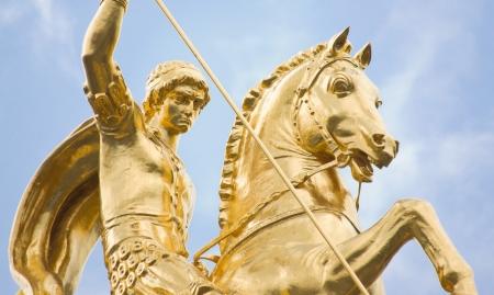 st george statue at Freedom square - Tbilisi, Georgia