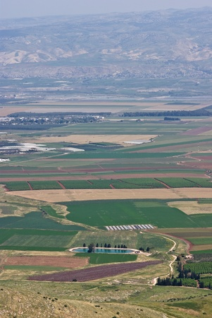 Agricultural fields at the jordan valley in israel photo