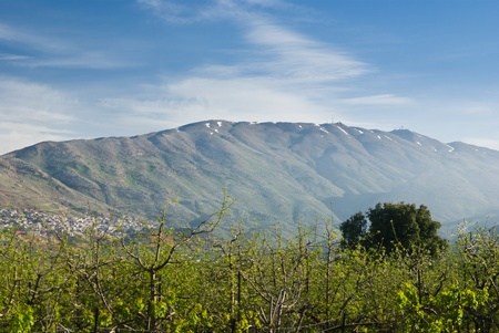 mount hermon in the northern Golan Hieghts - israel photo