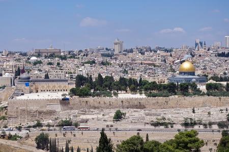 al aqsa: old Jerusalem cityscape Editorial