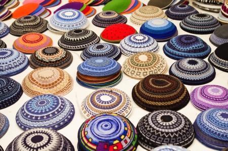 yarmulke: yarmulkes collection  Stock Photo
