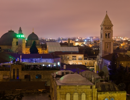 Jerusalem at night photo