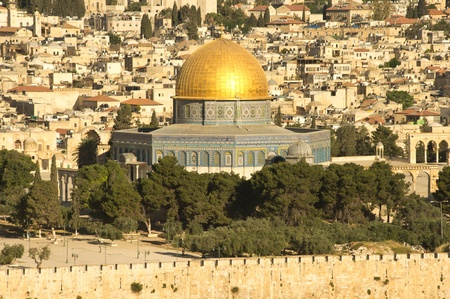 al aqsa:  Dome of the rock  mosque at the old city of Jerusalem