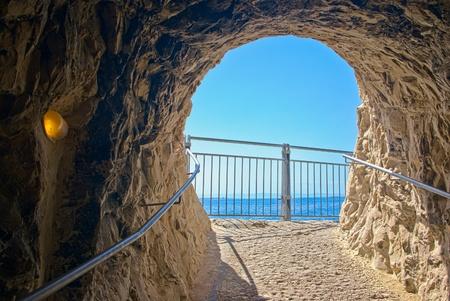 hanikra: a cave exit at Rosh Hanikra - Israel