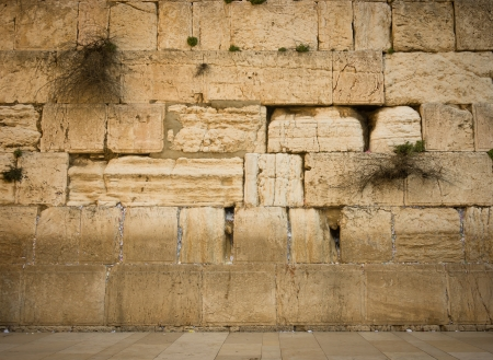 the Western Wall in the old city of jerusalem photo