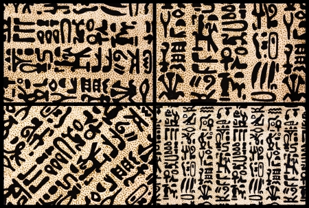egyptian hieroglyphics textures collage - high quality - 24MP photo