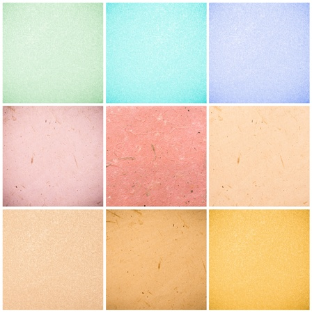 colorful collection of recycled paper backgrounds in high quality - total image size 24MP Stock Photo - 18217580