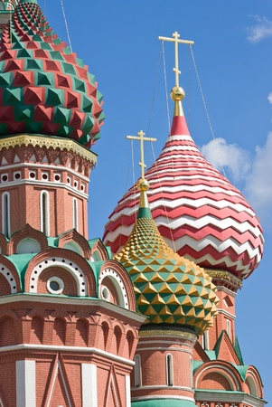 St Basils cathedral in the Red square, Moscow, Russia photo