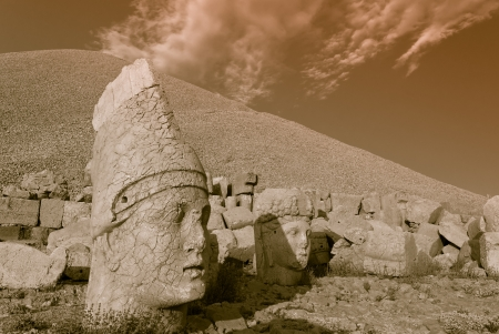 Nemrut Dagi in Anatolia - Turkey Stock Photo - 18217407