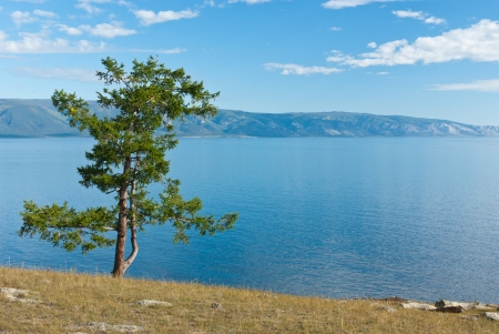 View of lake Baikal as seen from Olkhon island - Siberia, Russia photo
