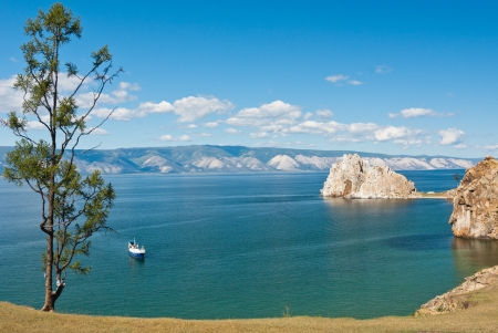 View of lake Baikal as seen from Olkhon island - Siberia, Russia