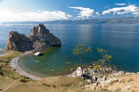 siberia: Cape Burkhan in Olkhon island, lake Baikal, Siberia, Russia
