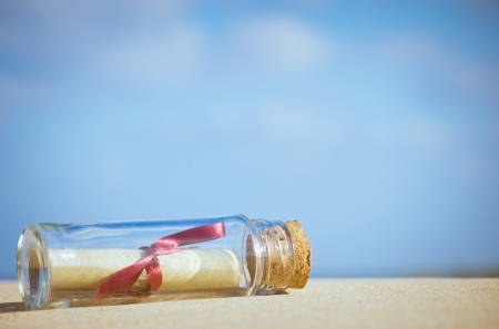A message in a bottle - can be used as a concept for communication photo