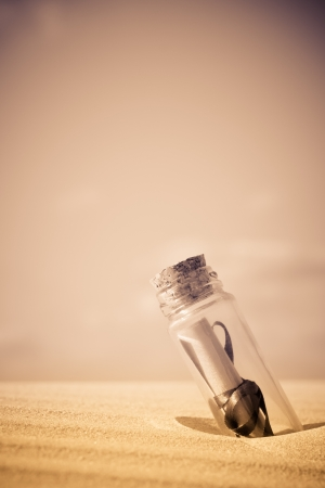 A message in a bottle - can be used as a concept for communication